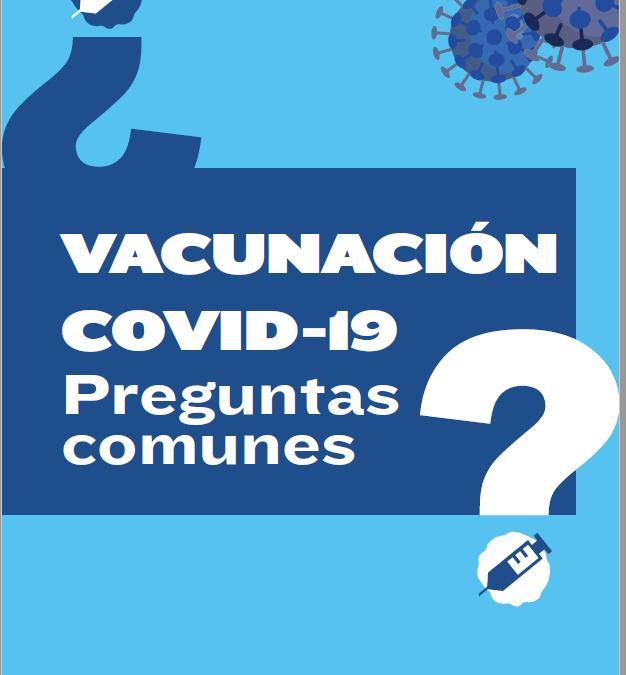 Vacunación COVID-19: Preguntas frecuentes
